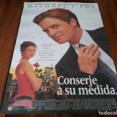 Cine: CONSERJE A SU MEDIDA - MICHAEL J. FOX, GABRIELLE ANWAR, ANTHONY HIGGINS - POSTER ORIGINAL U.I.P 1993. Lote 236248895