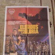 Cine: CARTEL ELEGIDOS PARA LA GLORIA THE RIGHT STUFF SAM SHEPARD, DENNIS QUAID, BARBARA HERSHEY. Lote 236250275