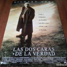 Cine: LAS DOS CARAS DE LA VERDAD - RICHARD GERE, LAURA LINNEY, EDWARD NORTON - POSTER ORIGINAL U.I.P 1996. Lote 236250360