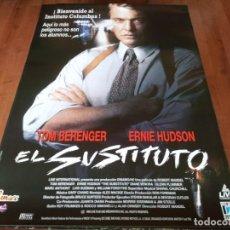 Cine: EL SUSTITUTO - TOM BERENGER, ERNIE HUDSON, DIANE VENORA - POSTER ORIGINAL FILMAX 1996. Lote 236250715
