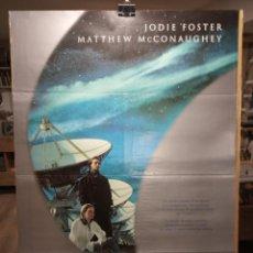 Cine: CONTACT - JODIE FOSTER - MATTHEW MCCONAUGHEY - CARTEL DE CINE ORIGINAL 70X100. Lote 236261320