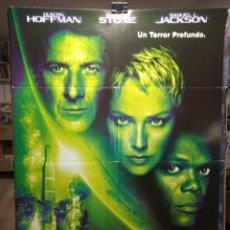 Cine: ESFERA - DUSTIN HOFFMAN - SHARON STONE - SAMUEL L JACKSON - CARTEL DE CINE ORIGINAL 70X100. Lote 236262215