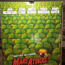Cine: MARS ATTACKS! - TIM BURTON - CARTEL DE CINE ORIGINAL 70X100. Lote 236269740