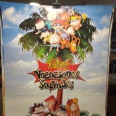 Cine: LOS RUGRATS - VACACIONES SALVAJES - CARTEL DE CINE ORIGINAL 70X100. Lote 236270740