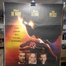 Cine: CASINO DE SCORSESE - ROBERT DE NIRO - SHARON STONE - JOE PESCI - CARTEL DE CINE ORIGINAL 70X100. Lote 236272915
