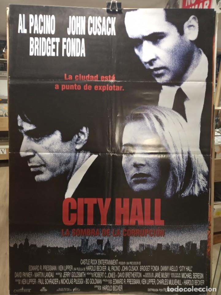 CITY HALL - AL PACINO - JOHN CUSACK - BRIDGET FONDA - CARTEL DE CINE ORIGINAL 70X100 (Cine - Posters y Carteles - Suspense)