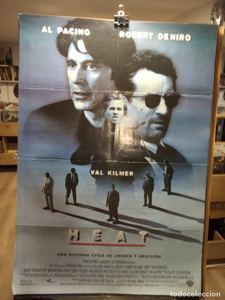 HEAT - AL PACINO - ROBERT DE NIRO - VAL KILMER - CARTEL DE CINE ORIGINAL 70X100 (Cine - Posters y Carteles - Suspense)