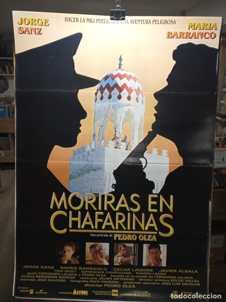 MORIRAS EN CHAFARINAS - JORGE SANZ - MARIA BARRANCO - CARTEL DE CINE ORIGINAL 70X100 (Cine - Posters y Carteles - Suspense)