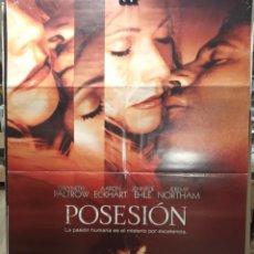 Cine: POSESION - GWYNETH PALTROW, AARON ECKHART - JENNIFER EHLE - JEREMY N- CARTEL DE CINE ORIGINAL 70X100. Lote 236273255