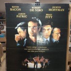 Cine: SLEEPERS - ROBERT DE NIRO - DUSTIN HOFFMAN - BRAD PITT - JASON PATRI- CARTEL DE CINE ORIGINAL 70X100. Lote 236273335