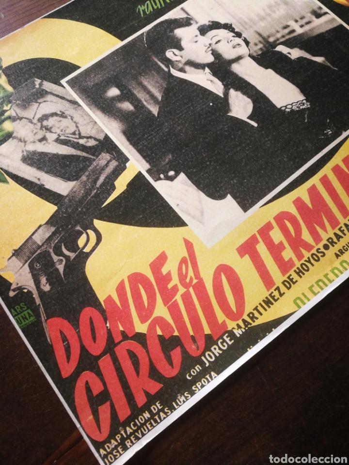 Cine: CARTEL CINE- DONDE EL CIRCULO TERMINA, SARITA MONTIEL. 40X30CM. - Foto 3 - 236336270