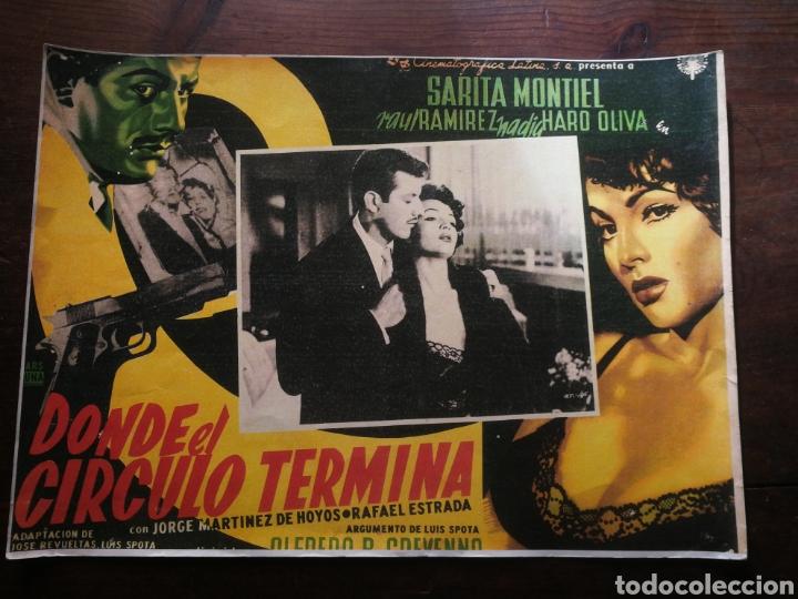 CARTEL CINE- DONDE EL CIRCULO TERMINA, SARITA MONTIEL. 40X30CM. (Cine - Posters y Carteles - Clasico Español)