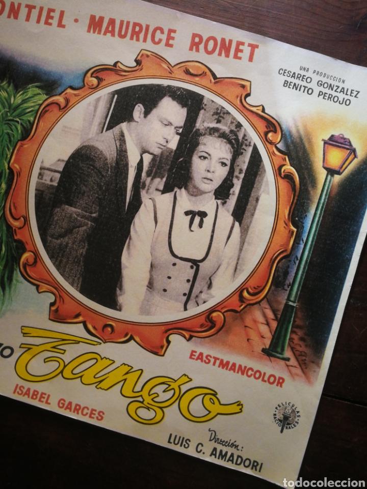 Cine: CARTEL CINE- MI ÚLTIMO TANGO, SARA MONTIEL (MÉXICO). 40X30CM. - Foto 3 - 236336900