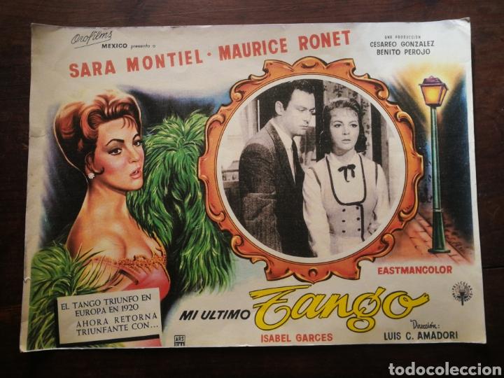 CARTEL CINE- MI ÚLTIMO TANGO, SARA MONTIEL (MÉXICO). 40X30CM. (Cine - Posters y Carteles - Clasico Español)