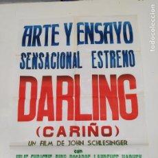 Cine: CARTEL DE LA PELICULA DARLING. CARIÑO. ARTE Y ENSAYO. JOHN SCHLESINGER. ESTRENO. 1969. TDKP23G. Lote 236421030