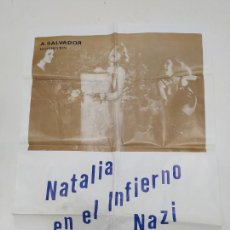 Cine: CARTEL DE LA PELICULA NATALIA EN EL INFIRNO NAZI. PATRICIA GORY. JACQUELINE LAURENT. TDKP23G. Lote 236428175