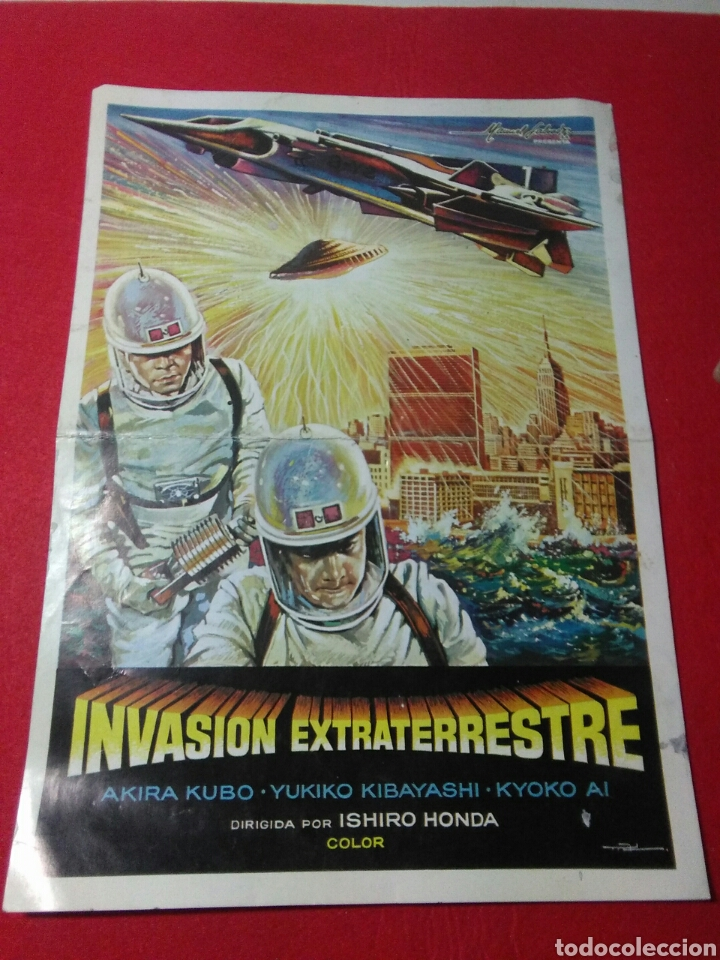 Cine: Antiguo cartel de cine ,invasion extraterrestre ,dirigida isihoro honda - Foto 7 - 236542170