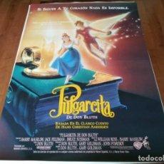 Cine: PULGARCITA DE DON BLUTH - ANIMACION - POSTER ORIGINAL WARNER 1994. Lote 236591210