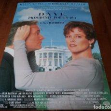 Cine: DAVE,PRESIDENTE POR UN DÍA - KEVIN KLINE,SIGOURNEY WEAVER,BEN KINGSLEY - POSTER ORIGINAL WARNER 1993. Lote 236593945
