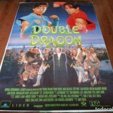 Cine: DOUBLE DRAGON - MARK DACASCOS, SCOTT WOLF,ROBERT PATRICK, ALYSSA MILANO - POSTER ORIGINAL AURUM 1994. Lote 236594700