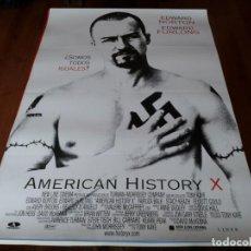 Cine: AMERICAN HISTORY X - EDWARD NORTON, EDWARD FURLONG, FAIRUZA BALK - POSTER ORIGINAL AURUM 1998. Lote 236604065