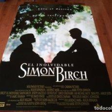 Cine: EL INOLVIDABLE SIMON BIRCH - IAN MICHAEL SMITH,JOSEPH MAZZELLO - POSTER ORIGINAL BUENAVISTA 1998. Lote 236605245
