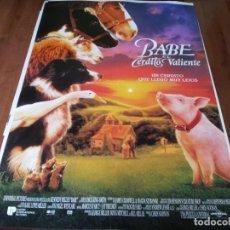 Cine: BABE, EL CERDITO VALIENTE - JAMES CROMWELL,MAGDA SZUBANSKI,PAUL GODDARD - POSTER ORIGINAL U.I.P 1995. Lote 236608945