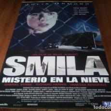 Cine: SMILLA, MISTERIO EN LA NIEVE - JULIA ORMOND, GABRIEL BYRNE - POSTER ORIGINAL TRIPICTURES 1997. Lote 236614825