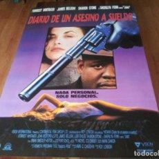 Cine: DIARIO DE UN ASESINO A SUELDO - FOREST WHITAKER, SHERILYN FENN - POSTER ORIGINAL UNION 1991. Lote 236620885