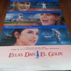Cine: ELLAS DAN EL GOLPE - GEENA DAVIS,TOM HANKS, MADONNA,LORI PETTY - POSTER ORIGINAL COLUMBIA 1992 MOD 2. Lote 253552970