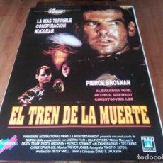 Cine: EL TREN DE LA MUERTE - PIERCE BROSNAN, CHRISTOPHER LEE, ALEXANDRA PAUL - POSTER ORIGINAL FILMAX 1993. Lote 236622640