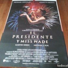 Cine: EL PRESIDENTE Y MISS WADE - MICHAEL DOUGLAS, ANNETTE BENING, MARTIN SHEEN - GUIA ORIGINAL U.I.P 1995. Lote 236627395