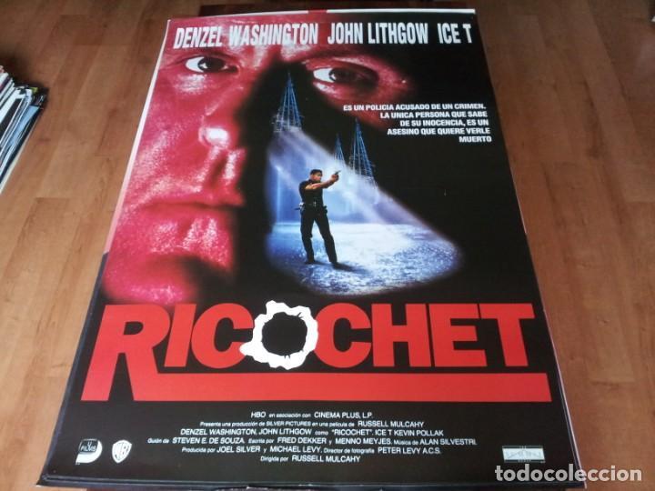 RICOCHET - DENZEL WASHINGTON, JOHN LITHGOW, KEVIN POLLAK, ICE-T - POSTER ORIGINAL UNION 1991 (Cine - Posters y Carteles - Acción)
