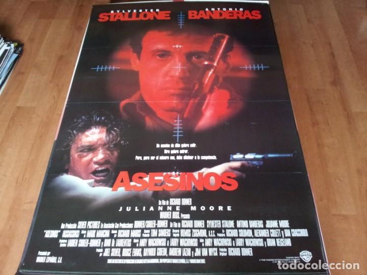 ASESINOS - ANTONIO BANDERAS, SYLVESTER STALLONE, JULIANNE MOORE - POSTER ORIGINAL WARNER 1995 (Cine - Posters y Carteles - Acción)