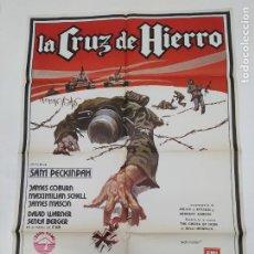 Cine: CARTEL DE LA PELICULA LA CRUZ DE HIERRO. 1977. JAMES COBURN. TDKP23C. Lote 236656410