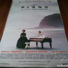 Cine: EL PIANO - HOLLY HUNTER, ANNA PAQUIN, HARVEY KEITEL, SAM NEILL - POSTER ORIGINAL WARNER 1993. Lote 236760595