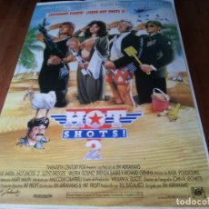 Cine: HOT SHOTS 2 - CHARLIE SHEEN, LLOYD BRIDGES, VALERIA GOLINO - POSTER ORIGINAL FOX 1993. Lote 236761600