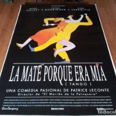 Cine: LA MATÉ PORQUE ERA MÍA TANGO - PHILIPPE NOIRET, THIERRY LHERMITTE - POSTER ORIGINAL SURFFILMS 1993. Lote 236762390