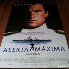 Cine: ALERTA MÁXIMA - STEVEN SEAGAL, TOMMY LEE JONES, GARY BUSEY - POSTER ORIGINAL WARNER 1992. Lote 236768580