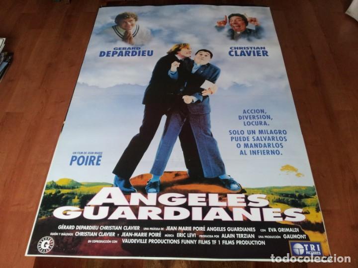 ANGELES GUARDIANES - GÉRARD DEPARDIEU, CHRISTIAN CLAVIER - POSTER ORIGINAL TRIPICTURES 1995 (Cine - Posters y Carteles - Comedia)