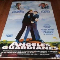 Cine: ANGELES GUARDIANES - GÉRARD DEPARDIEU, CHRISTIAN CLAVIER - POSTER ORIGINAL TRIPICTURES 1995. Lote 236768935