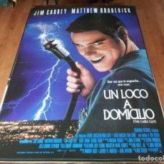 Cine: UN LOCO A DOMICILIO - JIM CARREY, MATTHEW BRODERICK, LESLIE MANN - POSTER ORIGINAL COLUMBIA 1996. Lote 271413008