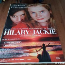 Cine: HILARY Y JACKIE - EMILY WATSON, RACHEL GRIFFITHS, JAMES FRAIN - POSTER ORIGINAL SHERLOCK 1998. Lote 236773135