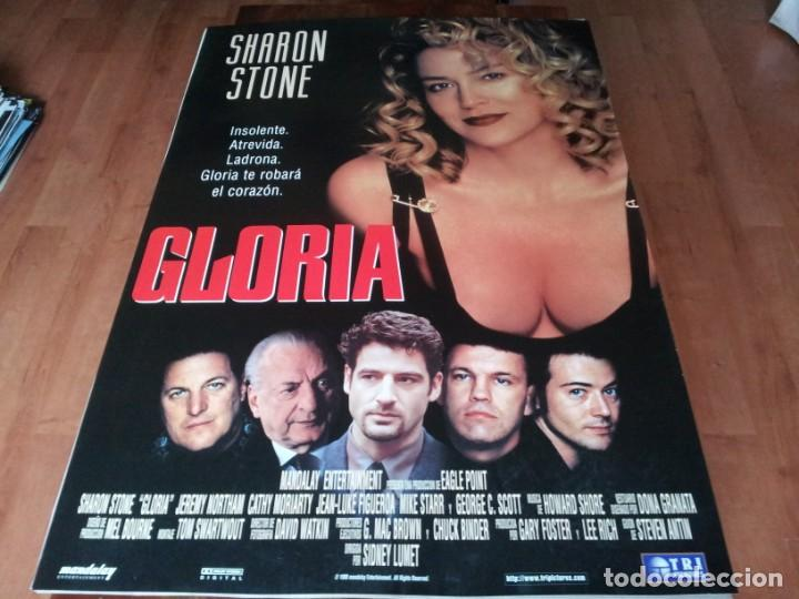 GLORIA - SHARON STONE, JEREMY NORTHAM, CATHY MORIARTY - POSTER ORIGINAL TRIPICTURES 1999 (Cine - Posters y Carteles - Suspense)
