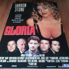 Cine: GLORIA - SHARON STONE, JEREMY NORTHAM, CATHY MORIARTY - POSTER ORIGINAL TRIPICTURES 1999. Lote 236775190