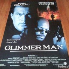 Cine: GLIMMER MAN - STEVEN SEAGAL, KEENEN IVORY WAYANS, JOHN GRAY - POSTER ORIGINAL WARNER AÑO 1996. Lote 236778240