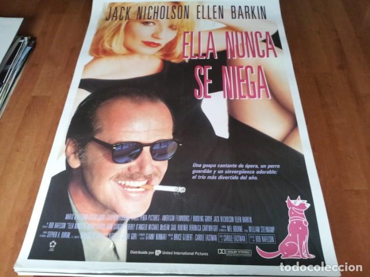 ELLA NUNCA SE NIEGA - JACK NICHOLSON, ELLEN BARKIN, HARRY DEAN STANTON - POSTER ORIGINAL U.I.P 1992 (Cine - Posters y Carteles - Comedia)