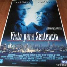 Cine: VISTO PARA SENTENCIA - ALEC BALDWIN, BEN KINGSLEY, AMY IRVING - POSTER ORIGINAL TRIPICTURES 1999. Lote 236781610