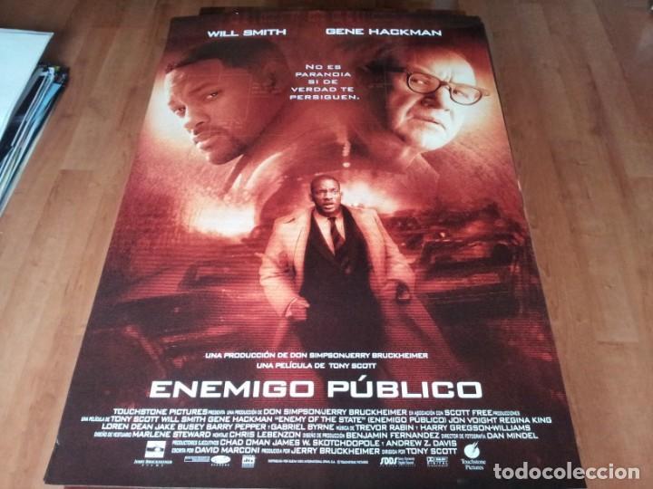 ENEMIGO PÚBLICO - WILL SMITH, GENE HACKMAN, JON VOIGHT, LISA BONET - POSTER ORIGINAL BUENAVISTA 1998 (Cine - Posters y Carteles - Suspense)