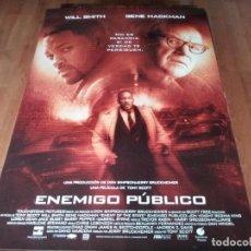 Cine: ENEMIGO PÚBLICO - WILL SMITH, GENE HACKMAN, JON VOIGHT, LISA BONET - POSTER ORIGINAL BUENAVISTA 1998. Lote 236783635